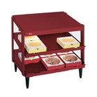 Hatco GRPWS-4824D Wine Red Glo-Ray 48 inch Double Shelf Pizza Warmer - 2390W