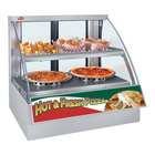 Hatco FSCD-2PD White Flav-R-Savor Convected Air Curved Front Display Case