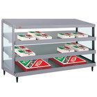 Hatco GRPWS-4818T Granite Gray Glo-Ray 48 inch Triple Shelf Pizza Warmer - 120/208V, 2880W