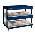 Hatco GRSDH-41D Navy Blue Glo-Ray 41 inch Horizontal Double Shelf Merchandiser - 120/240V