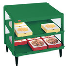Hatco GRPWS-4818D Hunter Green Glo-Ray 48 inch Double Shelf Pizza Warmer - 1920W