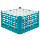 Vollrath 52783 Signature Full-Size Light Blue 36-Compartment 10 9/16 inch XXX-Tall Plus Glass Rack