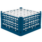 Vollrath 52783 Signature Full-Size Royal Blue 36-Compartment 10 9/16 inch XXX-Tall Plus Glass Rack