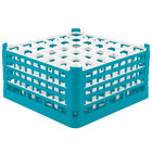 Vollrath 52782 Signature Full-Size Light Blue 36-Compartment 9 1/16 inch XX-Tall Plus Glass Rack