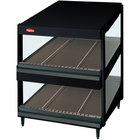 Hatco GRSDS-24D Black Glo-Ray 24 inch Slanted Double Shelf Merchandiser - 120V