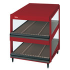 Hatco GRSDS-41D Warm Red Glo-Ray 41 inch Slanted Double Shelf Merchandiser