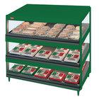 Hatco GRSDS-36T Hunter Green Glo-Ray 36 inch Slanted Triple Shelf Merchandiser