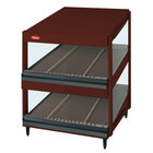Hatco GRSDS-41D Antique Copper Glo-Ray 41 inch Slanted Double Shelf Merchandiser - 120/240V