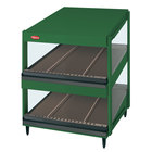 Hatco GRSDS-24D Hunter Green Glo-Ray 24 inch Slanted Double Shelf Merchandiser - 120V