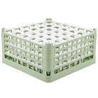 Vollrath 52782 Signature Full-Size Light Green 36-Compartment 9 1/16 inch XX-Tall Plus Glass Rack