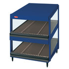 Hatco GRSDS-52D Navy Blue Glo-Ray 52 inch Slanted Double Shelf Merchandiser