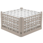Vollrath 52783 Signature Full-Size Beige 36-Compartment 10 9/16 inch XXX-Tall Plus Glass Rack