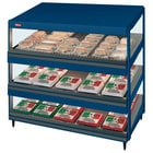 Hatco GRSDS-36T Navy Blue Glo-Ray 36 inch Slanted Triple Shelf Merchandiser - 120/208V