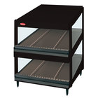 Hatco GRSDS-52D Black Glo-Ray 52 inch Slanted Double Shelf Merchandiser - 120/208V