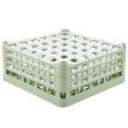 Vollrath 52781 Signature Full-Size Light Green 36-Compartment 7 11/16 inch X-Tall Plus Glass Rack