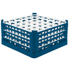 Vollrath 52782 Signature Full-Size Royal Blue 36-Compartment 9 1/16 inch XX-Tall Plus Glass Rack