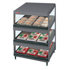Hatco GRSDS-24T Gray Granite Glo-Ray 24 inch Slanted Triple Shelf Merchandiser - 120V