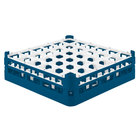 Vollrath 52779 Signature Full-Size Royal Blue 36-Compartment 4 13/16 inch Medium Plus Glass Rack