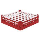 Vollrath 52779 Signature Full-Size Red 36-Compartment 4 13/16 inch Medium Plus Glass Rack
