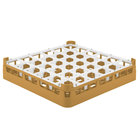 Vollrath 52778 Signature Full-Size Gold 36-Compartment 3 1/4 inch Short Plus Glass Rack