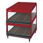Hatco GRSDS-41D Warm Red Glo-Ray 41 inch Slanted Double Shelf Merchandiser - 120/208V