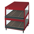Hatco GRSDS-60D Warm Red Glo-Ray 60 inch Slanted Double Shelf Merchandiser - 120/240V