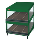 Hatco GRSDS-60D Hunter Green Glo-Ray 60 inch Slanted Double Shelf Merchandiser - 120/208V