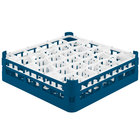 Vollrath 52812 Signature Lemon Drop Full-Size Royal Blue 30-Compartment 4 5/16 inch Medium Glass Rack