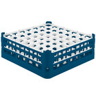 Vollrath 52786 Signature Full-Size Royal Blue 49-Compartment 6 1/4 inch Tall Plus Glass Rack