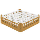 Vollrath 52812 Signature Lemon Drop Full-Size Gold 30-Compartment 4 5/16 inch Medium Glass Rack