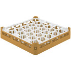 Vollrath 52811 Signature Lemon Drop Full-Size Gold 30-Compartment 3 1/4 inch Short Plus Glass Rack