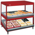 Hatco GRSDS/H-30D Warm Red Glo-Ray 30 inch Horizontal / Slanted Double Shelf Merchandiser