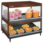 Hatco GRSDS/H-36D Antique Copper Glo-Ray 36 inch Horizontal / Slanted Double Shelf Merchandiser