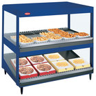 Hatco GRSDS/H-36D Navy Blue Glo-Ray 36 inch Horizontal / Slanted Double Shelf Merchandiser