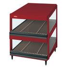 Hatco GRSDS-60D Warm Red Glo-Ray 60 inch Slanted Double Shelf Merchandiser