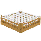 Vollrath 52785 Signature Full-Size Gold 49-Compartment 4 13/16 inch Medium Plus Glass Rack