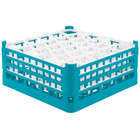 Vollrath 52832 Signature Lemon Drop Full-Size Light Blue 30-Compartment 7 1/8 inch X-Tall Glass Rack