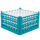 Vollrath 52789 Signature Full-Size Light Blue 49-Compartment 10 9/16 inch XXX-Tall Plus Glass Rack