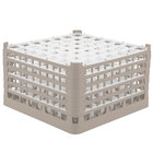 Vollrath 52789 Signature Full-Size Beige 49-Compartment 10 9/16 inch XXX-Tall Plus Glass Rack