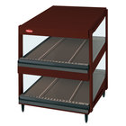 Hatco GRSDS-60D Antique Copper Glo-Ray 60 inch Slanted Double Shelf Merchandiser - 120/208V