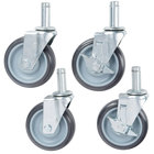 5 inch Poly Casters for Wire Shelves - 4/Set