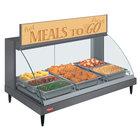 Hatco GRCDH-3P Gray 46 inch Glo-Ray Full Service Single Shelf Merchandiser with Humidity Controls - 1255W
