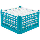 Vollrath 52848 Signature Lemon Drop Full-Size Light Blue 30-Compartment 10 9/16 inch XXX-Tall Plus Glass Rack