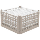 Vollrath 52847 Signature Lemon Drop Full-Size Beige 30-Compartment 9 15/16 inch XXX-Tall Glass Rack