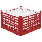 Vollrath 52848 Signature Lemon Drop Full-Size Red 30-Compartment 10 9/16 inch XXX-Tall Plus Glass Rack
