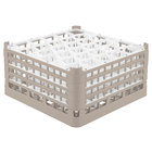 Vollrath 52845 Signature Lemon Drop Full-Size Beige 30-Compartment 8 1/2 inch XX-Tall Glass Rack