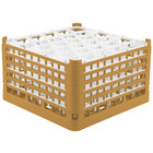 Vollrath 52848 Signature Lemon Drop Full-Size Gold 30-Compartment 10 9/16 inch XXX-Tall Plus Glass Rack