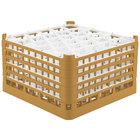 Vollrath 52848 Signature Lemon Drop Full-Size Gold 30-Compartment 10 9/16 inch XXX-Tall Plus Glass Rack