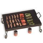 Black chafer griddle with vegetables and chafing fuel