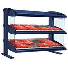 Hatco HXMH-42D Navy Blue LED 42 inch Horizontal Double Shelf Merchandiser - 120/208V